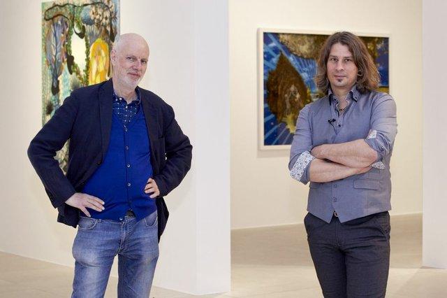 Porträt Hartmut Neumann und Wolf Hamm in der Ausstellung  VG Bild-Kunst Bonn 2021 und   Wolf Hamm 2021 Foto Annette Hiller - LVR.jpg